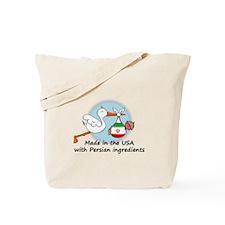 Stork Baby Iran USA Tote Bag