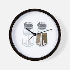 Salt Pepper Shakers Wall Clock