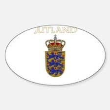 Jutland, Denmark Oval Decal
