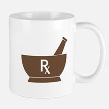 Brown Mortar and Pestle Rx Mug