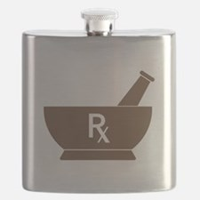 Brown Mortar and Pestle Rx Flask
