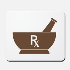 Brown Mortar and Pestle Rx Mousepad