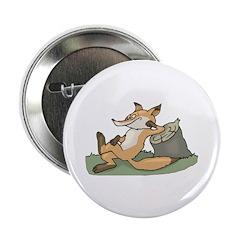 Silly Lazy Fox Button