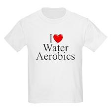 """I Love (Heart) Water Aerobics"" T-Shirt"