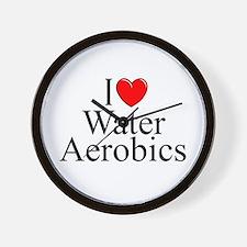"""I Love (Heart) Water Aerobics"" Wall Clock"