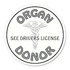 ORGAN DONOR Round Car Magnet