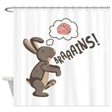 Braaains! Shower Curtain