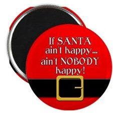 Santa Ain't Happy Magnet