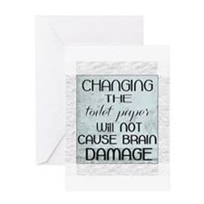 change toilet paper humor Greeting Cards