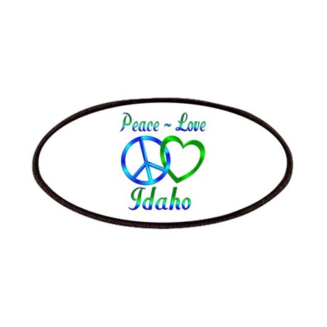 Peace Love Idaho Patches