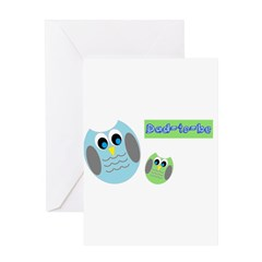 Dad-to-be Owls Greeting Cards
