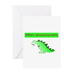 Future Grandmasaurus Greeting Cards