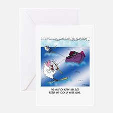 Sheep on the Ark Water Ski Greeting Card