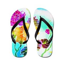 03 Asia Batik Art Flip Flops