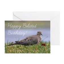 Happy Belated Birthday D Greeting Cards (Pk Of 10)