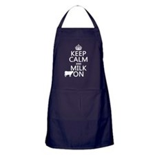Keep Calm and Milk On Apron (dark)