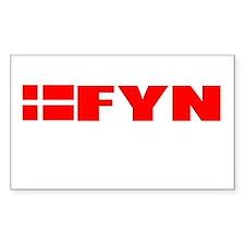 Fyn, Denmark Rectangle Decal