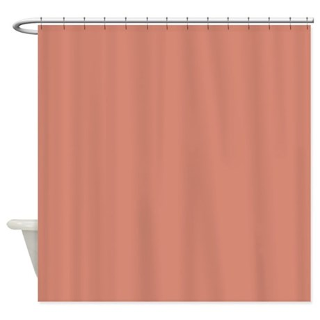Peach Sand Shower Curtain By CopperCreekDesignStudio