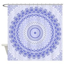 China Blue mandala kaleidoscope Shower Curtain