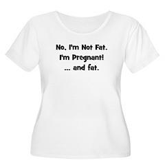 No, I'm Not Fat! (black) T-Shirt
