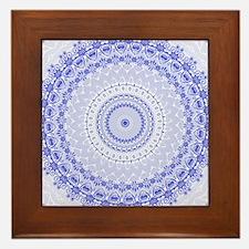 China Blue mandala kaleidoscope Framed Tile