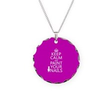Keep Calm and Paint Your Nails Necklace