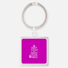Keep Calm and Paint Your Nails Keychains