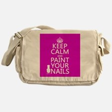 Keep Calm and Paint Your Nails Messenger Bag