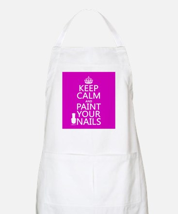 Keep Calm and Paint Your Nails Apron