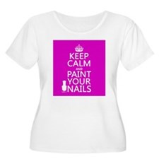 Keep Calm and Paint Your Nails Plus Size T-Shirt