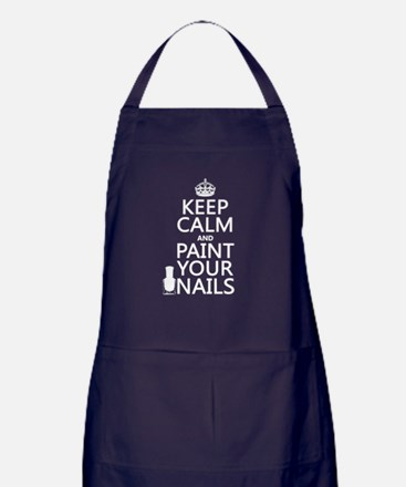 Keep Calm and Paint Your Nails Apron (dark)