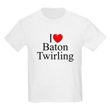 """I Love (Heart) Baton Twirling"" T-Shirt"