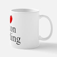 """I Love (Heart) Baton Twirling"" Mug"