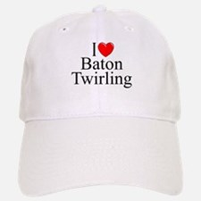 """I Love (Heart) Baton Twirling"" Baseball Baseball Cap"