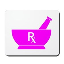 Pink Mortar and Pestle Rx Mousepad