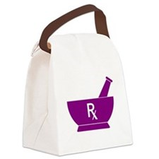 Purple Mortar and Pestle Rx Canvas Lunch Bag
