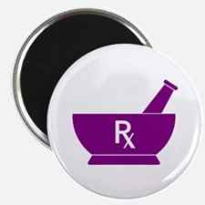"Purple Mortar and Pestle Rx 2.25"" Magnet (10 pack)"