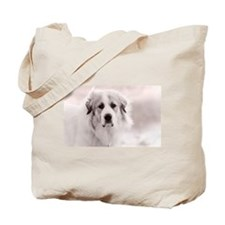 Great Pyrenees Puppy Tote Bag