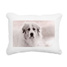Great Pyrenees Puppy Rectangular Canvas Pillow