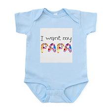 i want papa Body Suit