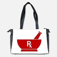 Red Mortar and Pestle Rx Diaper Bag