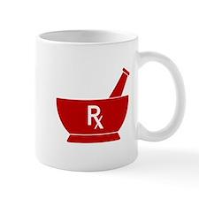 Red Mortar and Pestle Rx Mug