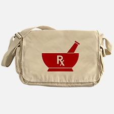 Red Mortar and Pestle Rx Messenger Bag