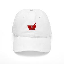 Red Mortar and Pestle Rx Baseball Cap