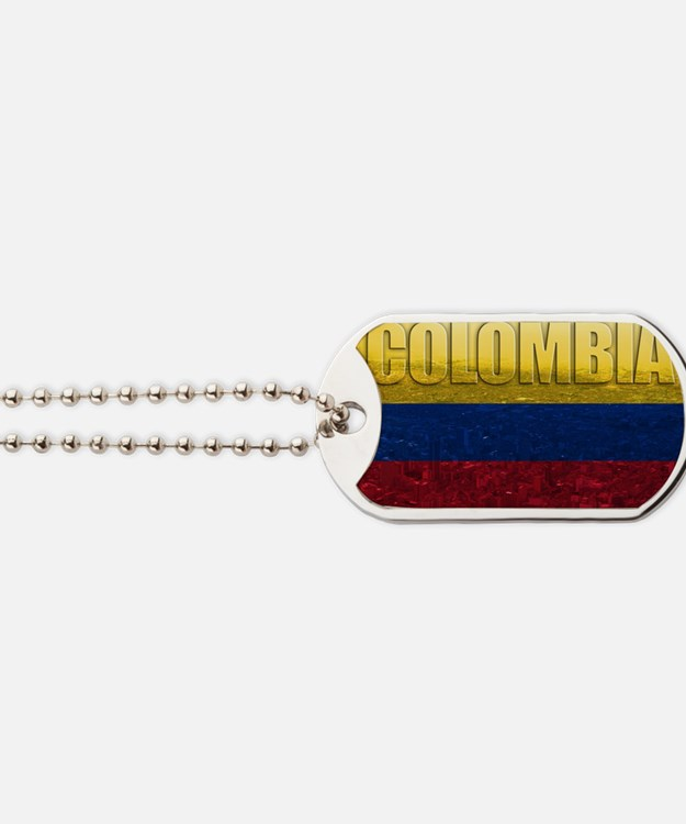 Colombia Flag Dog Tags