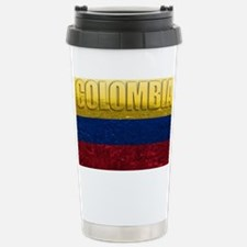Colombia Flag Stainless Steel Travel Mug