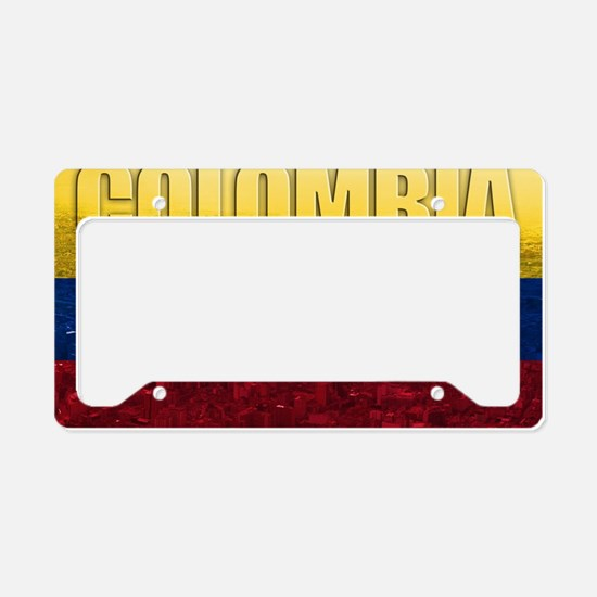 Colombia Flag License Plate Holder