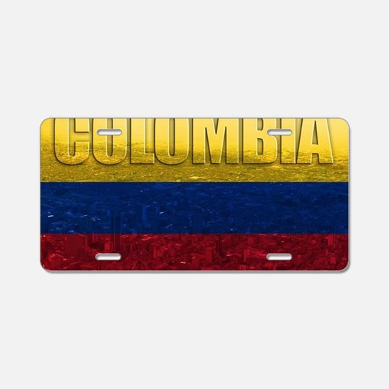Colombia Flag Aluminum License Plate