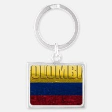 Colombia Flag Landscape Keychain