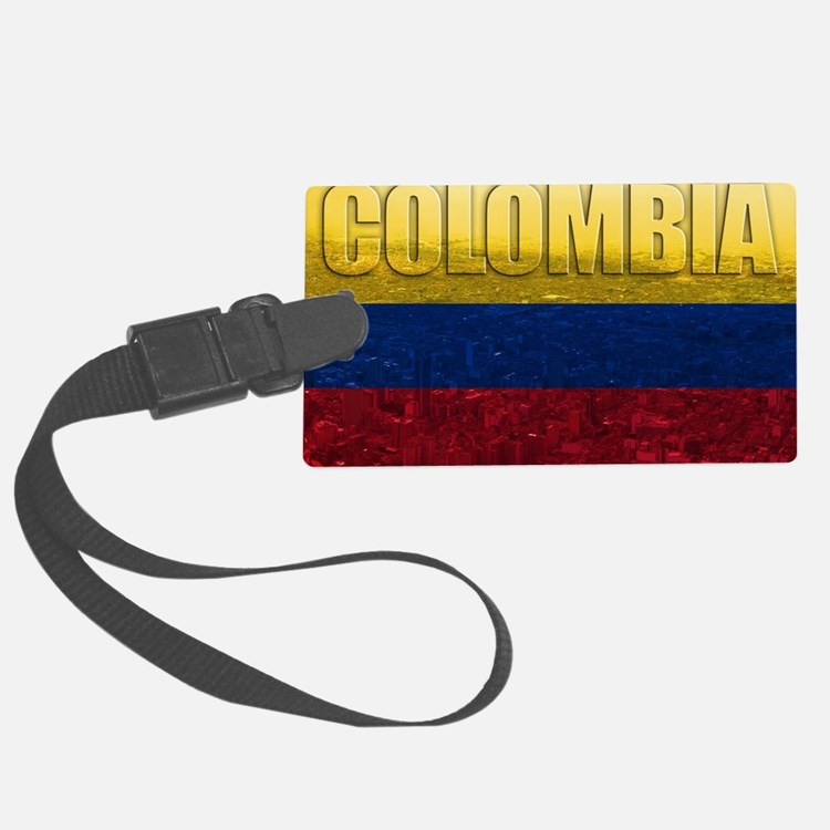 Colombia Flag Luggage Tag